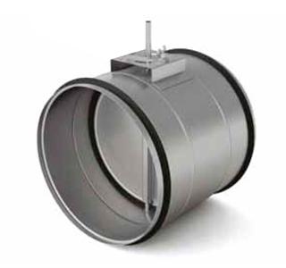 Воздушные клапаны с площадкой под привод  ZLC 100 для круглых воздуховодов