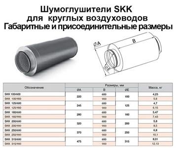 Шумоглушитель круглый SKK 160х600