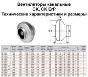 Канальный вентилятор для круглого воздуховода CK 100С