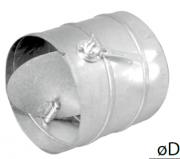 Воздушные клапаны для круглых воздуховодов с ручной регулировкой DRCP 160