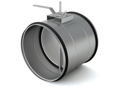 Воздушный клапан круглый утепленный KKU 125